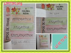 Atividade Tipos de Frase A Galinha Ruiva Geography, Professor, Bullet Journal, Teaching, Writing, Signs, School, Interactive Activities, Creative Activities