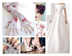 """""""Bloody Bride"""" by anastasiasoul ❤ liked on Polyvore featuring moda, women's clothing, women, female, woman, misses i juniors"""
