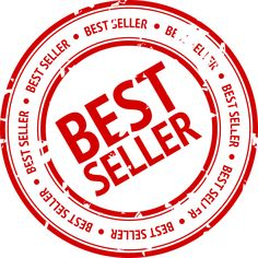 Vector illustration of best seller stamp. Drawing of red best seller product or service seal. Best Selling Books, Skin Problems, Free Paper, Round Stickers, Get Over It, Best Sellers, Custom Stickers, Packaging, Cap