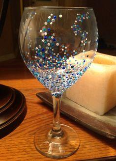 Pokadot wine glasses by SassySisterShop on Etsy, $12.00
