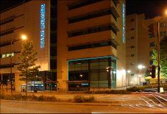 """Derwent House Sheffield UK  1"""" Natural Blue Light Tape www.lighttape.co.uk"""