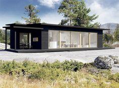 Sunhouse S337. Architect: Kalle Oikari. Scandinavian Architecture, Scandinavian Style, Summer Dream, White Wood, Black White, Home Fashion, Business Design, Building A House, House Plans