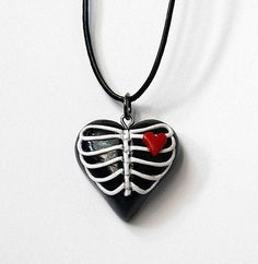 Ribcage Heart Necklace by MyOddities on Etsy, $25.00