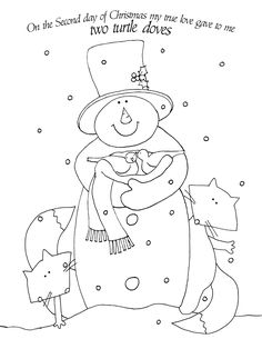 Free Dearie Dolls Digi Stamps: 2nd Day of Christmas