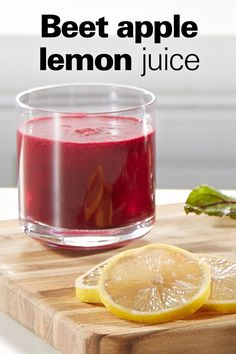 This tasty juice is the perfect combination of sweet and tart. Bring out your juicer and try it today! Appetizer Recipes, Appetizers, Juice Recipes, Beets, Tart, Lemon, Yummy Food, Apple, Health