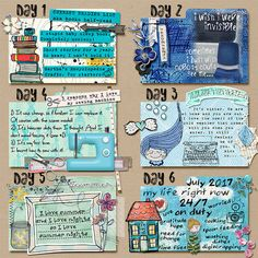 Index-Card-A-Day Challenge, Days 1-6 by Cinderella at the Lilypad