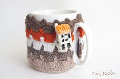 Cozy Mug Coffee Mug Warmer Brown earth color House by chezviolette
