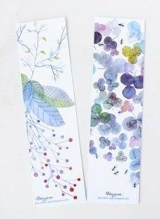 Marque Pages Aquarelle Fleur Botanique Fourmi Multicolore par Thévy Guex