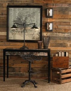 Rustic Chic Decor | Rustic Chic Design | Mountain Decor / #Industrial style console/desk ...