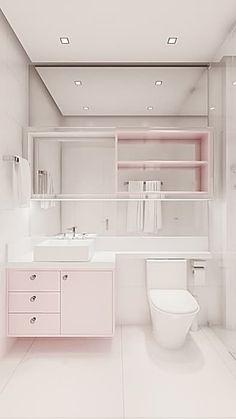 Detalhe bancada banheiro: Banheiro  por Flávia Kloss Arquitetura de Interiores