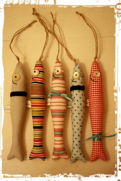 Fische-Anhänger für Schlüssel, Tasche... von fina ♛ auf DaWanda.com