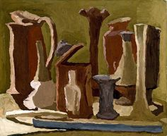 Name: Natura morta Artist: Giorgio Morandi Date: 1936 Medium: Painting Italian Painters, Italian Artist, Bauhaus Textiles, Modern Art, Contemporary Art, Social Art, Painting Inspiration, Still Life, Illustration Art