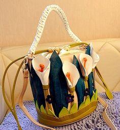 2015 кожа Braccialini италия ремесленных трехмерный цветок женщины сумки на ремне , женские сумка сумочка