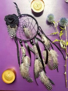 Check out this item in my Etsy shop https://www.etsy.com/uk/listing/544935109/dream-catcher-black-dreamcatcher
