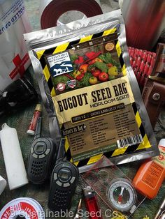 Bug Out Seed Bag | 25 different varieties of vegetables and herbs that will not only feed you and your family but give you essential barter items for those things you need from others