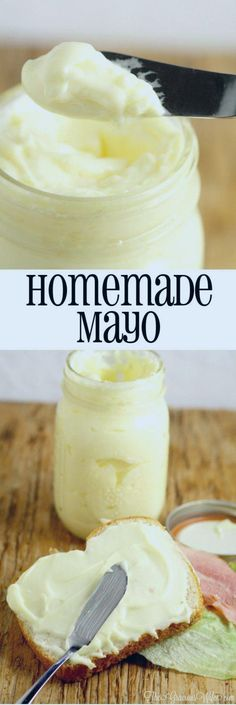 Homemade Mayonnaise Recipe Homemade Mayo Recipe in the food processor - the perfect homemade base for sauce recipes, dip recipes, or just to add a touch of yum to your lunch. Homemade mayo is super easy and really tasty! Homemade Mayo Recipe, Homemade Mayonnaise, Homemade Sauce, What Is Mayonnaise, Mayonaise Recipe, Homemade Butter, Homemade Food, Vegetarian Recipes, Side Dishes