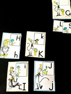 Dr Seuss Alphabet Match Free - Sea of Knowledge