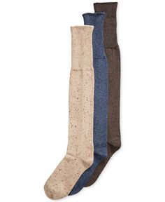 Hue Cuffed Tweed Knit Socks - Tights & Socks - Handbags & Accessories - Macy's--LIGHT TAN