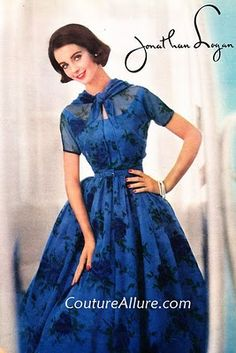 ~Jonathan Logan Blue Dress 1950s~   my naunt worked at a Jonathan Logan store in New York or New Jersey, in the late 70's.  I need to ask her which it was to clarify.  I just know the clothes were beautiful.