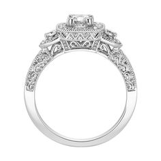 Love the side detail but not the look from the top.....Fred Meyer Jewelers | 1 ct. tw. Diamond Engagement Ring