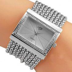 Queen Diamond Bracelet Watch (Silver) Náramky 3fc29f3e5d