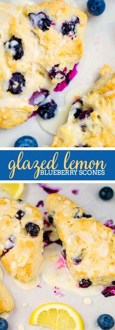 Glazed Lemon Blueberry Scones Recipe: Bake your way to a great Easter or Mother's Day brunch with this a delicious pastry! It's a perfect breakfast recipe!   The Love Nerds via @lovenerdmaggie
