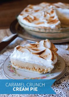 Rice Krispies Treats® add a chewy and delicious layer to this Caramel Crunch Cream Pie. Serve this kid-friendly dessert up for your next party and be prepared to wow all your guests with this scrumptious recipe.