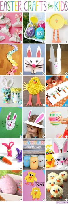 Easter crafts for kids! Adorable and fun projects for kids of all ages.