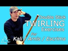 Escrima DOUBLE STICK TWIRLING Exercises - Try this Challenge - Filipino martial arts