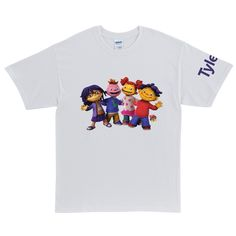 Sid the Science Kid & Friends In-A-Row White Adult T-Shirt
