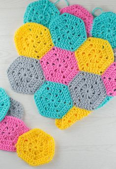 New Year's Resolution: Finish A Crochet Blanket - After starting to crochet three blankets last year I am yet to finish one so 2016 will be the year I do. This is made up from hexagons.