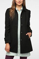 Urban Outfitters - Pins and Needles Pleated-Pocket Lady Coat