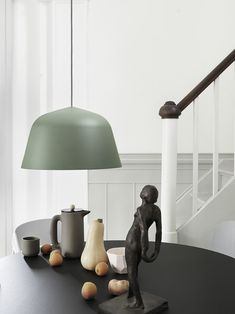 The Ambit Suspension Lamp was created by Jens Fager from TAF Architects for Scandinavian design company Muuto.Based in Stockholm, Muuto work with some of Led Pendant Lights, Pendant Chandelier, Ceiling Pendant, Pendant Lighting, Ombres Portées, Berlin Design, Muuto, Deco Nature, Luminaire Design