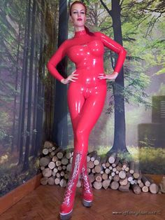 Male, passion of ladies wearing latex Honey Hair, Latex Catsuit, Latex Girls, Leather Fashion, Pink Purple, Leather Pants, Female, Model, Clothes
