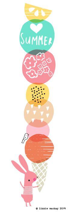 Lizzie Mackay. Love her illustrations. ♡