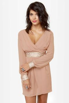 Found this dress which is exact replica of the spool one for half the price and its sold out! UGH! Lovely Blush Dress - Sequin Dress - Mauve Dress - $55.00