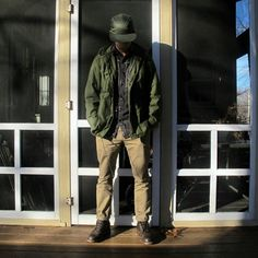 Green Jacket + Chinos and Boots