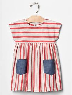 """Stripe pocket dress   Gap - this woud be a beautiful Fourth of July dress. Or, um, a """"party for no reason dress"""" if we went to see @thelindadavis ..."""