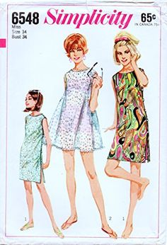 Simplicity 6548 Vintage Sewing Pattern, Misses' One-Piece... https://www.amazon.com/dp/B01MU19LYJ/ref=cm_sw_r_pi_dp_x_l6cByb7J2CGGM