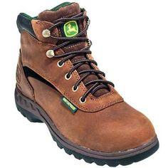 John deere jd3524 brown womens waterproof hiker boots in Women Work Boots