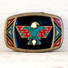 Vintage Belt Buckle Tribal Native by goodmerchants on Etsy, $75.00