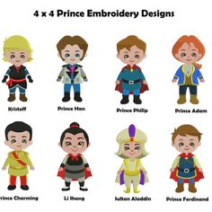 Disney Prince Embroidery Designs | Disney Prince Machine Embroidery Design