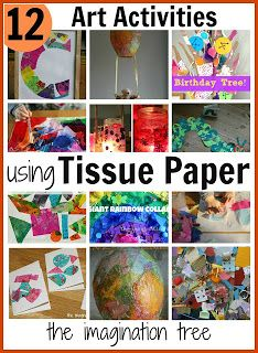 Art and craft projects for kids using tissue paper