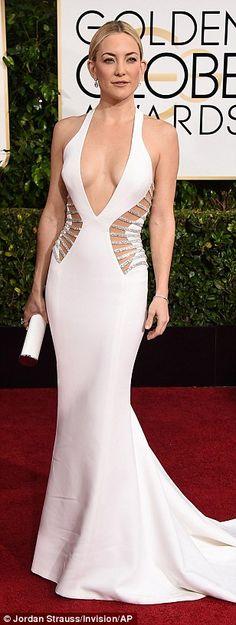 Kate Hudson in that Donatella Versace dress at the Golden Globe Awards