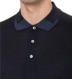 BRIONI - Colour-accented cotton-piqué polo shirt | Selfridges.com