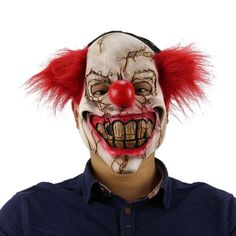scary clown mask at