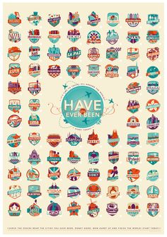 HAVE you EVER BEEN TO --- ✈ via Behance