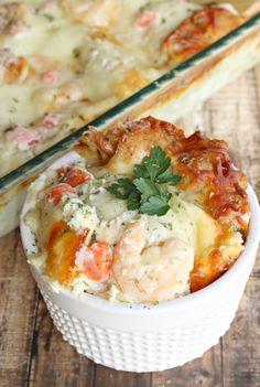 Shrimp Scampi Lasagna - Life a Little Brighter