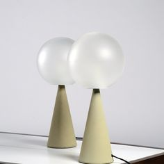 Gio Ponti; 'Bilia' Table Lamps Designed 1931. Produced by Fontana Arte, 1967.