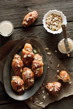 No Knead Almond Cardamom Croissants Pastry Affair. Breakfast Recipes, Dessert Recipes, Brunch Recipes, Bread And Pastries, Cupcakes, Sweet Bread, Recipe Of The Day, Just Desserts, Bakery